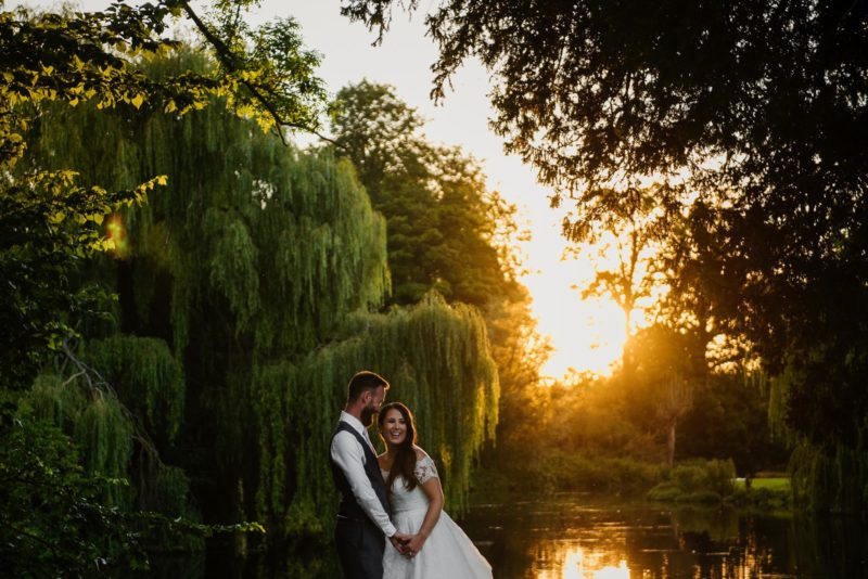 Perfect sunset on wedding night at Ardington House
