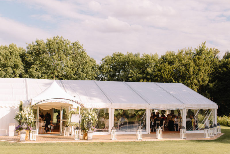 Marquee weddings at Ardington House, Oxfordshire Wedding Venue