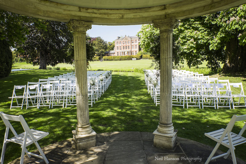 Outside wedding venue in Oxfordshire