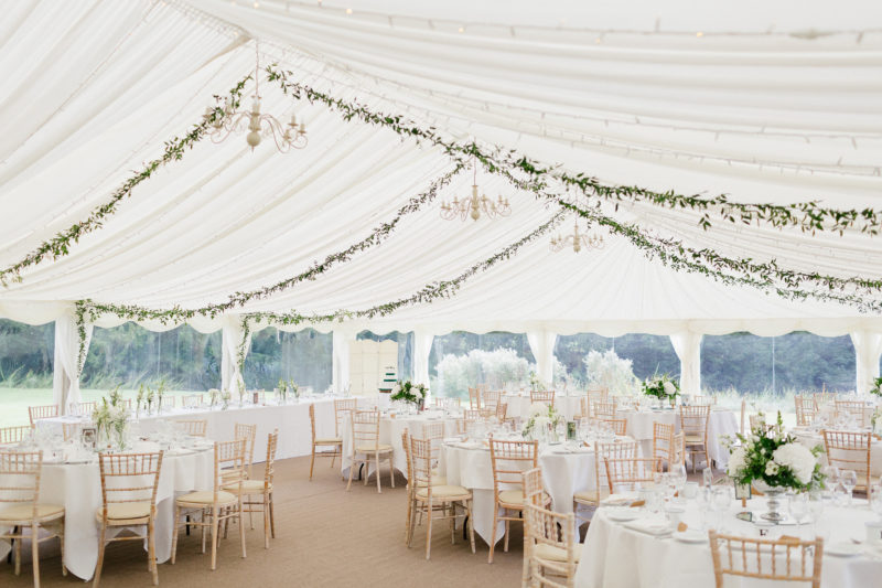 Marquee wedding at Ardington Hosue