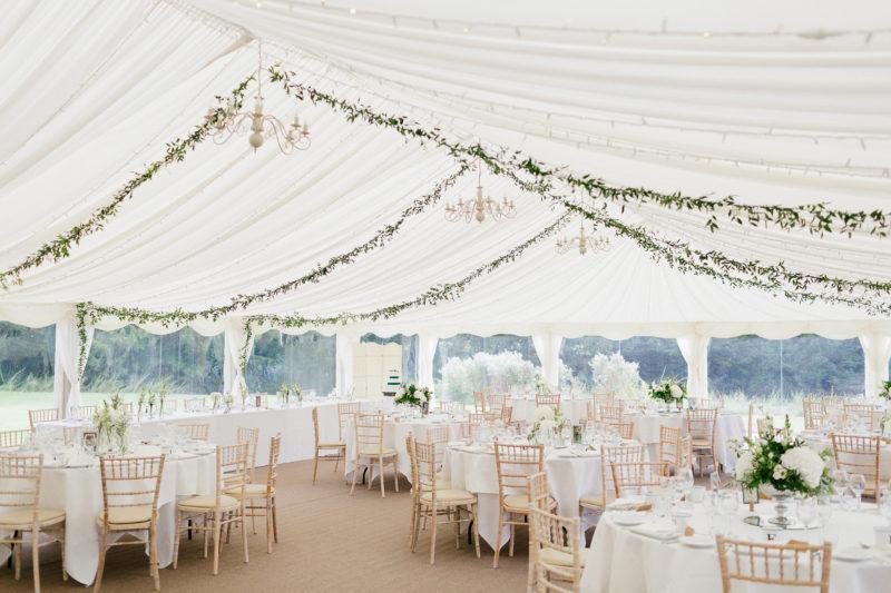 Marquee wedding at Ardington Hosue